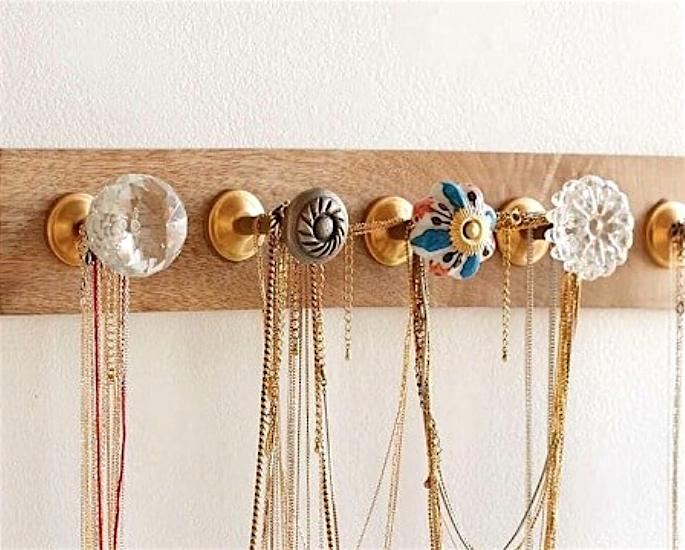 Desi Jewellery Storage Ideas & Hacks - hooks