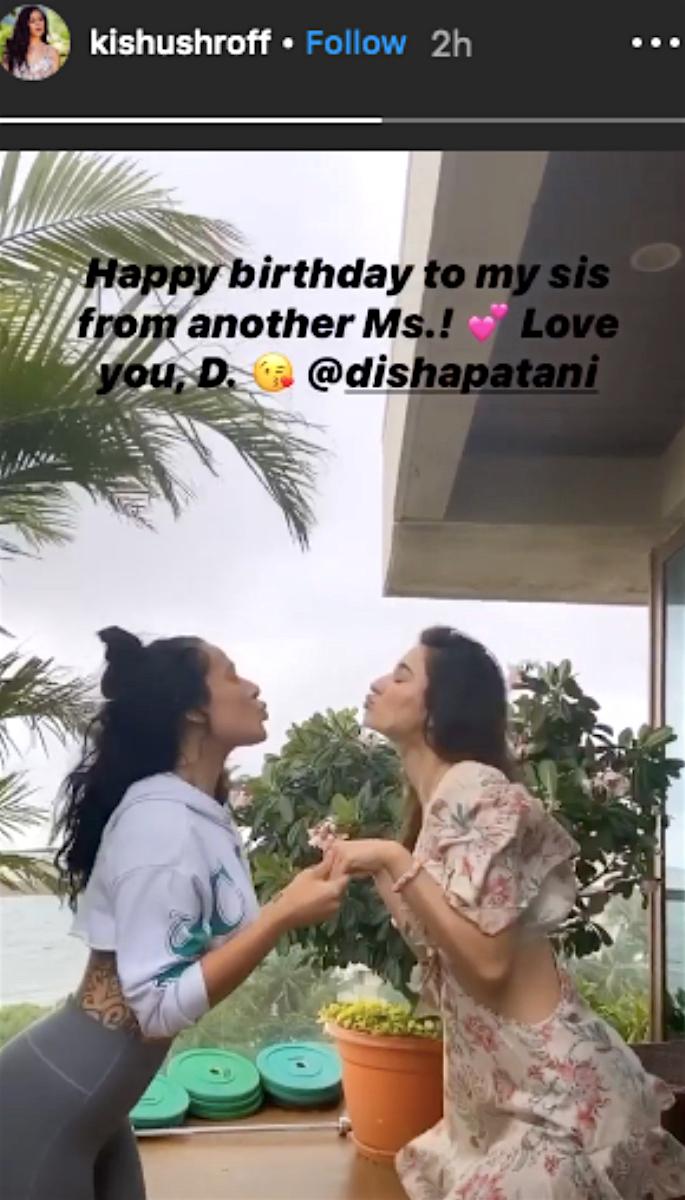 Disha Patani celebrates Birthday with Rumoured BF Tiger - krishna