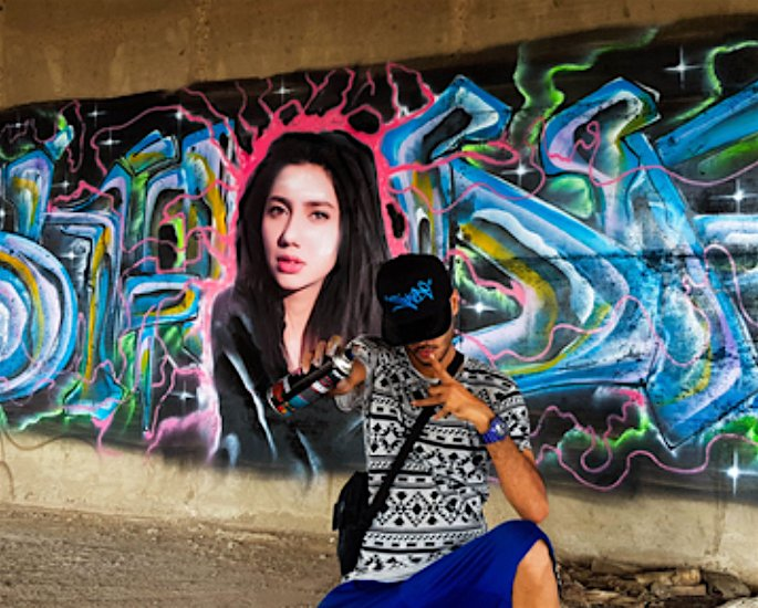 Famous Pakistani Graffiti Artists - mahira khan