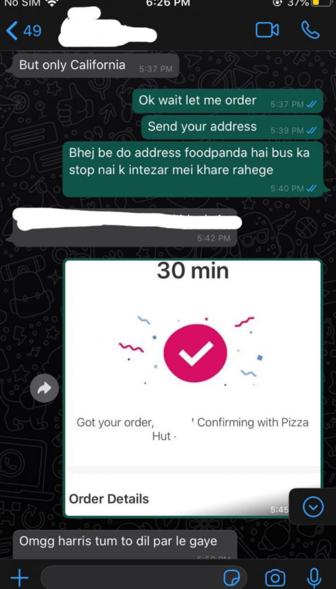 Man orders food costing Rs 13k as revenge on Ex-GF - text2