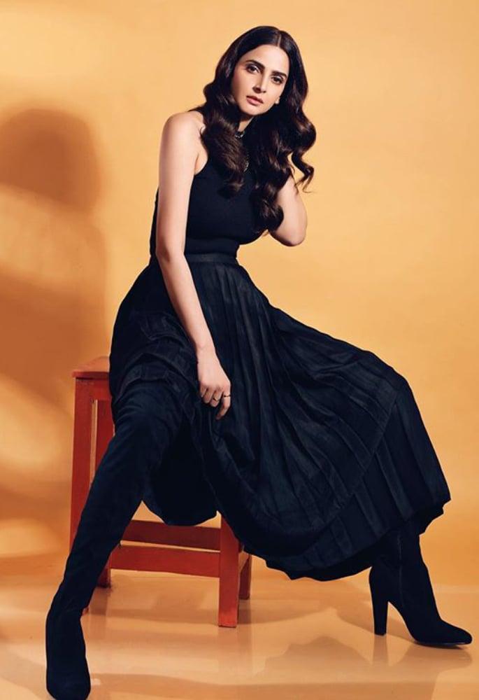 Saba Qamar reveals she doesn't 'believe in Feminism' - black dress