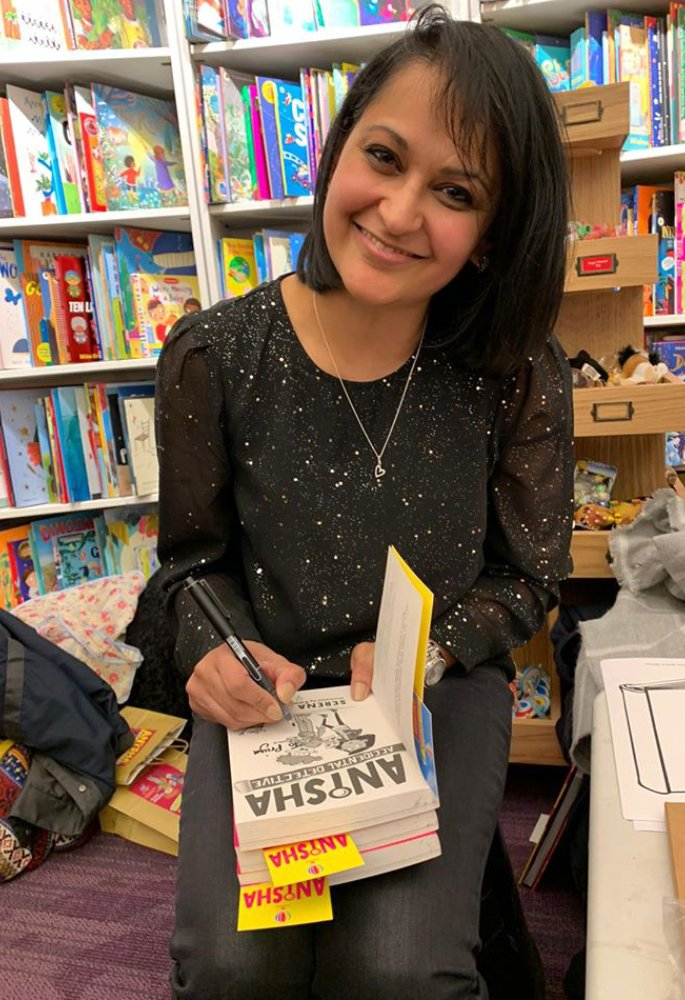British Asian author Serena Patel talks Children's Books - signing