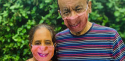 Elderly Couple launch Personalised Photo Face Mask Business
