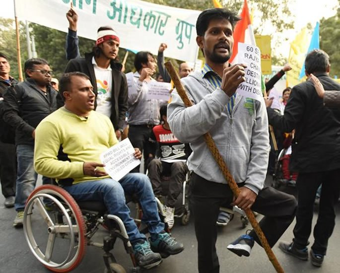 The Daily Plight for People with Disabilities in India - protest