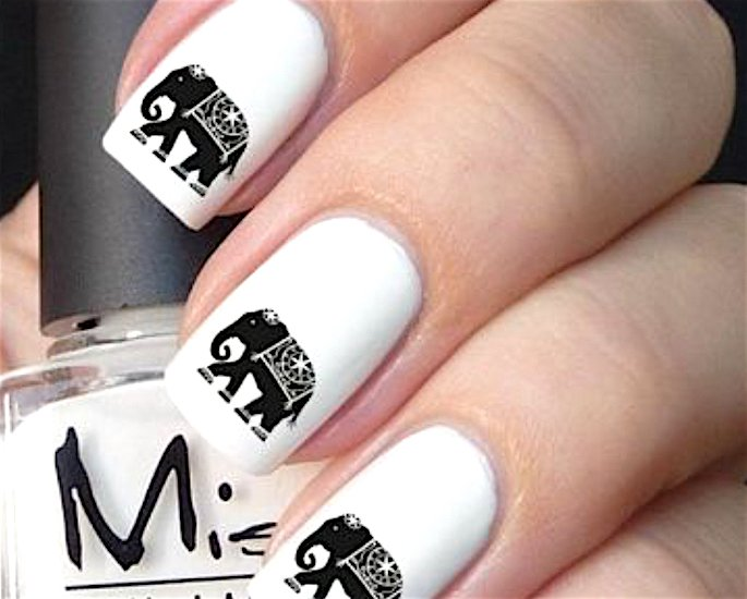 Top Indian Nail Art Designs - elephants