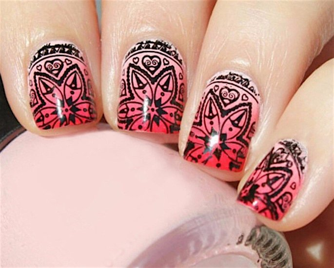 Top Indian Nail Art Designs - mandala