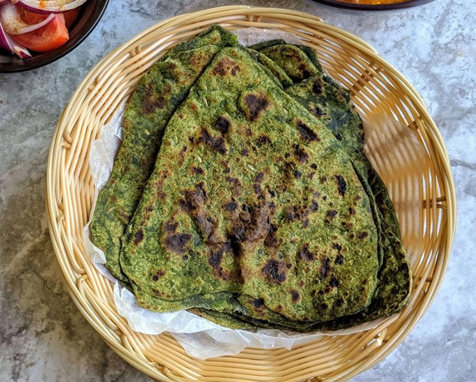 10 Delicious Vegan Paratha Recipes - spinach