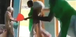 Indian Daughter-in-law caught beating Mother-in-law aged 82
