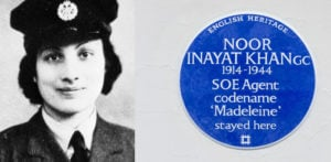Noor Inayat Khan WWII British Spy honoured with Blue Plaque f