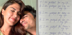 Rhea Chakraborty shares Handwritten Note from Sushant