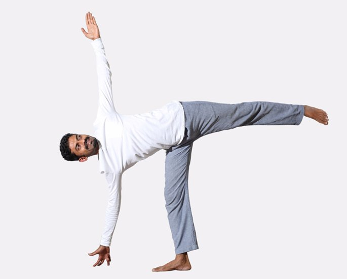 Yoga Positions to Help with Mental Health - Ardha Chandrasana