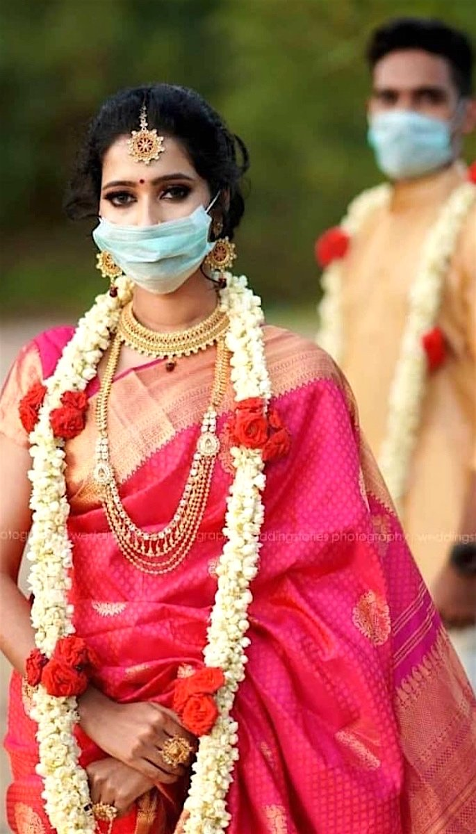 20 Stunning Photos of Desi Brides - mask