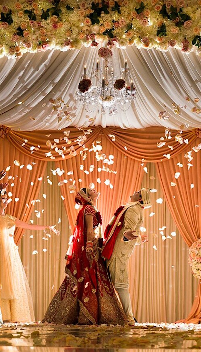 20 Stunning Photos of Desi Brides - petals