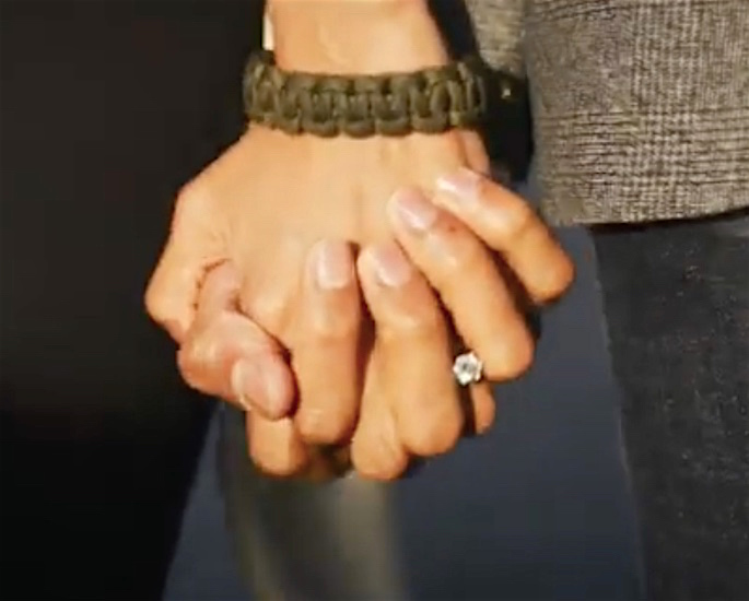 Couple Marry in Scotland after Meeting in 'Different Countries' - holding hands