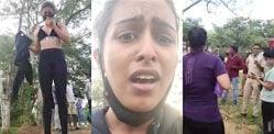 स्पोर्ट्स ब्रा पहनने के लिए पार्क में संयुक्ता हेगड़े ने हमला किया