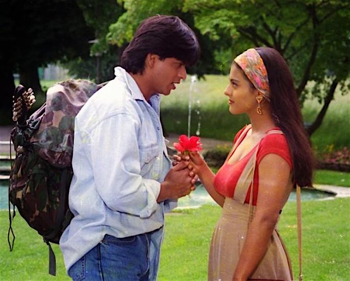 25 Years of DDLJ_ SRK & Kajol's Statue to be Unveiled in London - flower scene