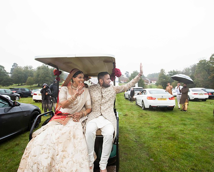 Couple have Drive-in Wedding with 200 Guests 2