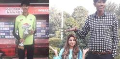 پاکستانی آدمی کو 7 فٹ 6 اننس میں ورلڈ کا سب سے لمبا کرکٹر بننے کی ٹریننگ