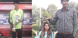 Pakistani Man training to be World's Tallest Cricketer at 7ft 6ins f