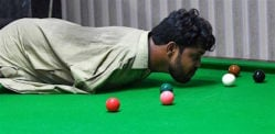 Pakistani Snooker Player Born Without Arms Excels in Game