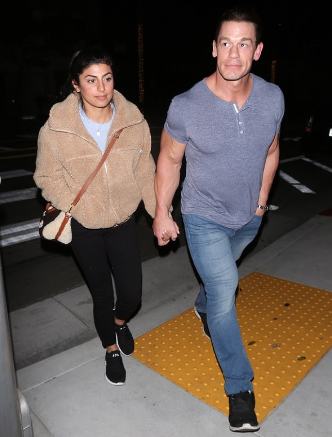 Shay Shariatzadeh marries Boyfriend WWE Star John Cena - holding hands