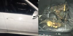 Taxi Driver & Family frightened after Mercedes 'Petrol Bombed'