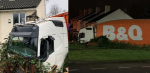 B&Q Lorry Driver banned after Smashing into a House f