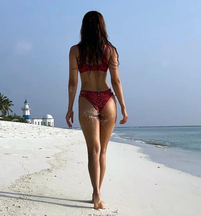 Bollywood Stars in Bikinis on the Beaches of Maldives - disha rear
