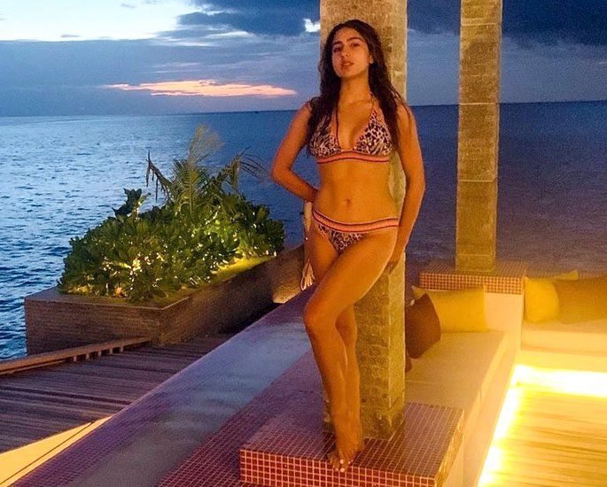 Bollywood Stars in Bikinis on the Beaches of Maldives - evening