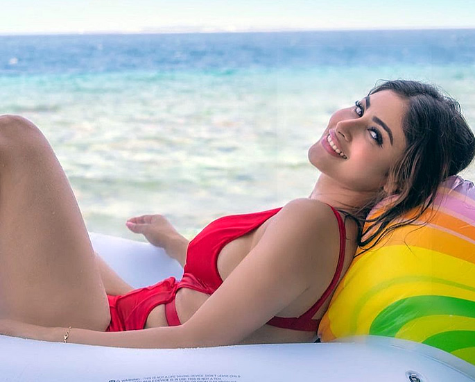 Bollywood Stars in Bikinis on the Beaches of Maldives - mouni red