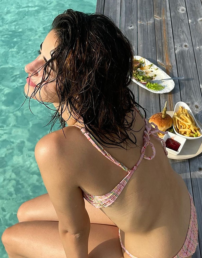 Bollywood Stars in Bikinis on the Beaches of Maldives - sun