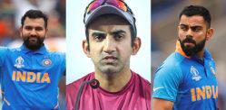 Gambhir says Rohit Sharma is 'Better Captain' than Kohli