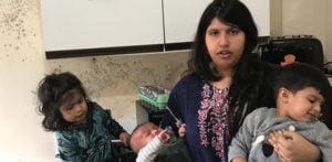Mother says 'Unfit' Council Flat is Making Children Ill f