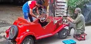 Indian Mechanic builds Toy Car to fulfil Daughter's Wish f