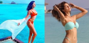 Tara Sutaria & Disha Patani dazzle in Bikinis in Maldives f