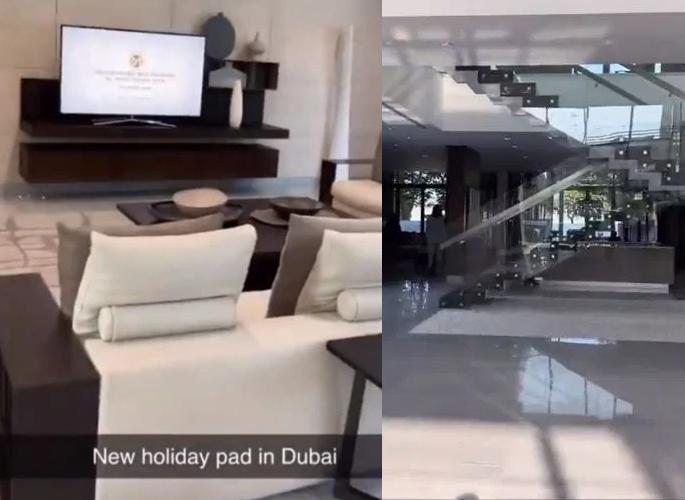 Amir Khan shows off new Dubai Holiday Mansion