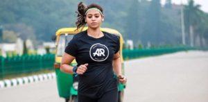 Ankita Gaur running
