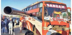 100-foot Pipe Smashes into Moving Bus & Kills Two