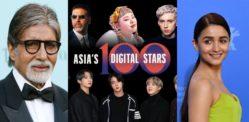 फोर्ब्स एशिया के 12 डिजिटल सितारों में 100 भारतीय सेलेब्रिटी शामिल हैं