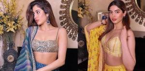 Janhvi & Khushi Kapoor Look Stunning in Lehghas f