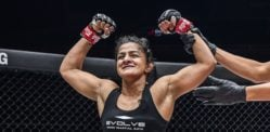 Ritu Phogat wins 4th MMA Bout with TKO Victory