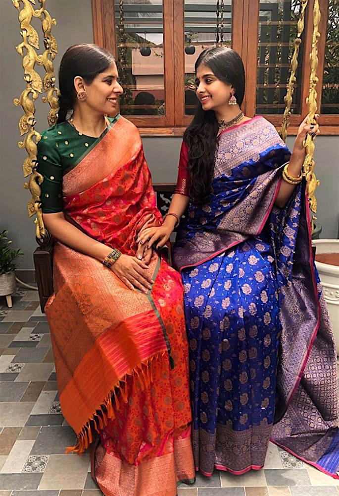 The Indian Saree - A Garment with a Story - mother & daughter