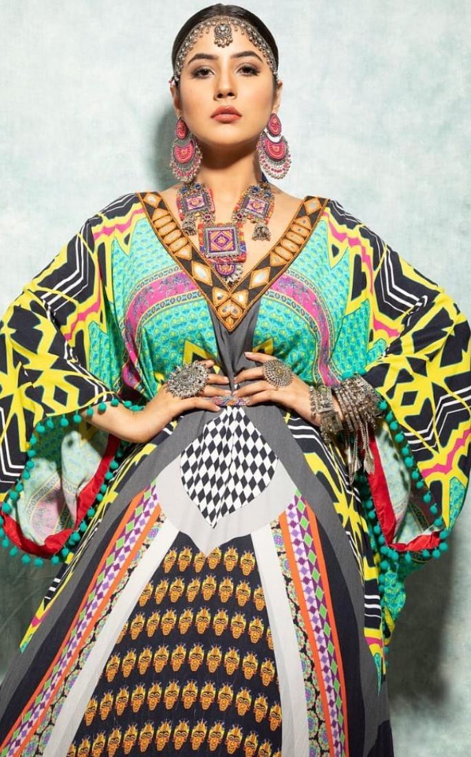 بھارتی اداکارہ شہناز گل کی 7 حیرت انگیز نظر۔ رنگین