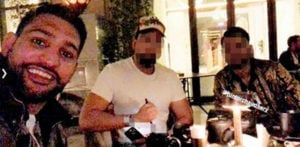 Amir Khan pictured with £113m Cyber Fraudster in Dubai f