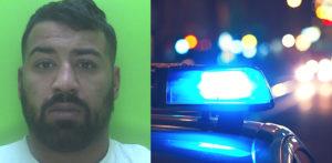 पाठलाग करताना पोलिस कारमध्ये धडक दिल्यानंतर पेय चालकास तुरुंगात डांबले