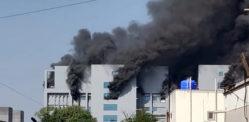 ہندوستانی کوڈ 19 ویکسین سہولت میں آگ لگ گئی