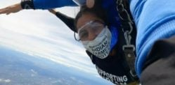 Indian Woman Skydives to support Farmers Protest