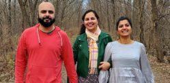 ভারতীয় মহিলা বিবাহিত দম্পতির হয়ে একটি থ্রাপল গঠন করছেন