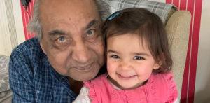 Toddler starts Walking Challenge as Tribute to Grandad f