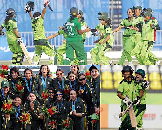 Which was the First Women's Cricket Team to win Gold? IA 4